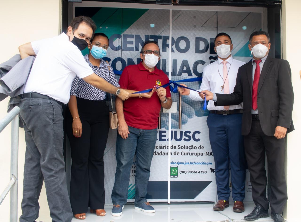 Cidadãos de Cururupu recebem Centro de Conciliação do TJMA