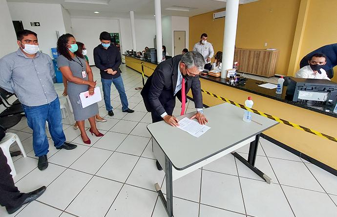 Corregedoria inspeciona cartório de São Raimundo das Mangabeiras
