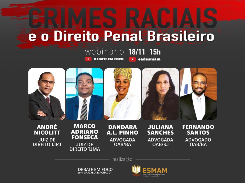 WEBINÁRIO CRIMES RACIAIS