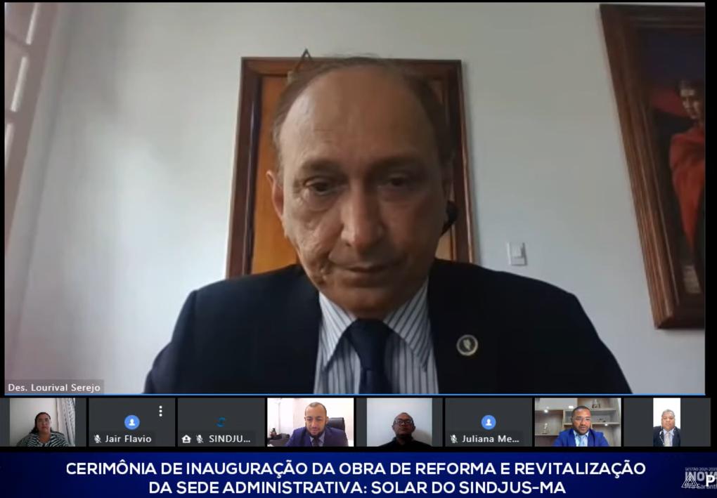 Presidente do TJ participa de entrega da reforma da sede do Sindjus