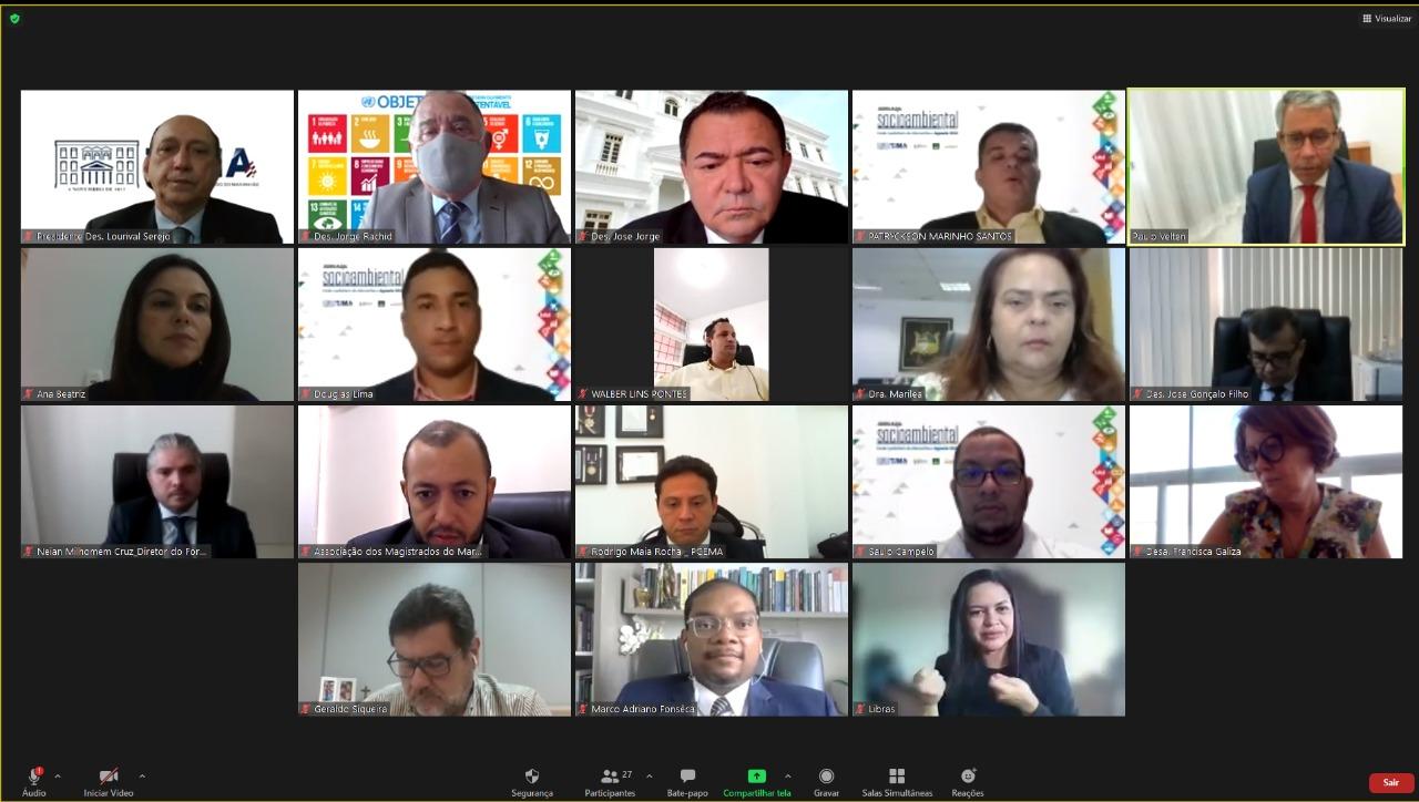 TJMA abre Jornada Socioambiental com foco na Agenda 2030