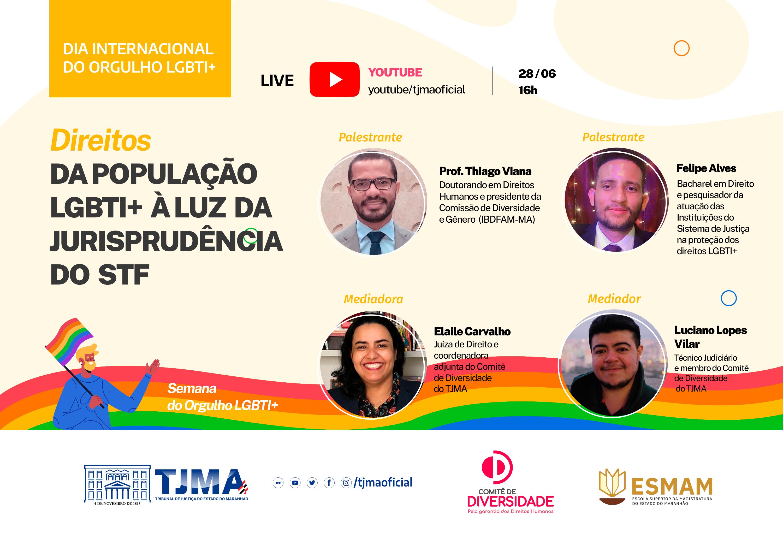 O evento ocorrerá no Dia Internacional do Orgulho LGBTI+