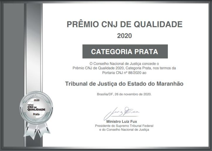 Certificado Selo Prata.