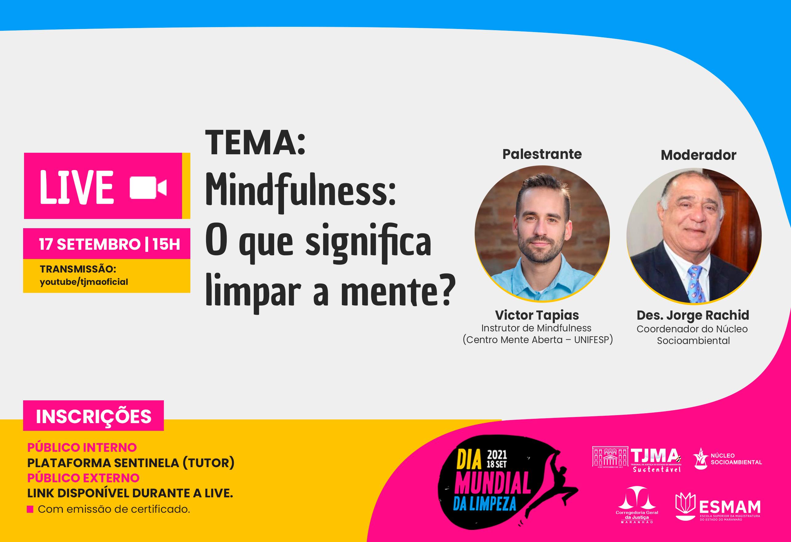 Acompanhe a Live Mindfullness: O que significa limpar a mente?