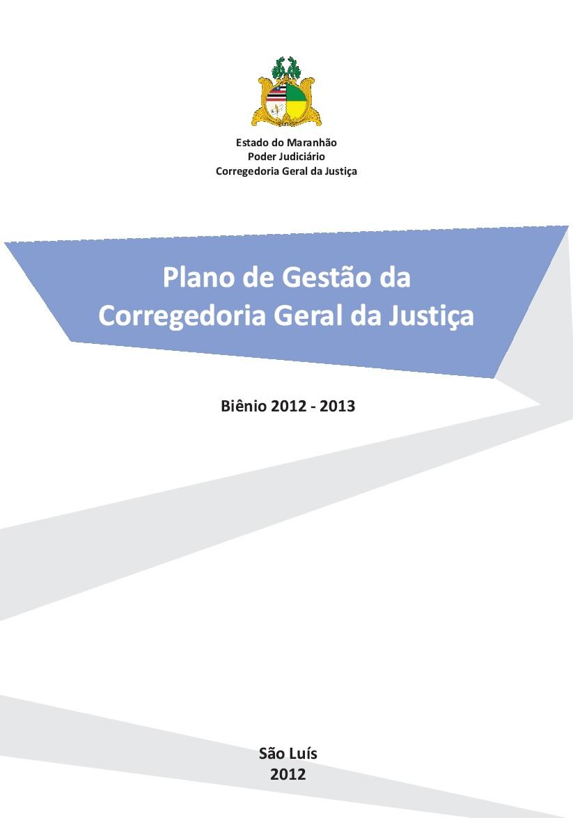 Plano de Gestão - Biênio 2012/2013