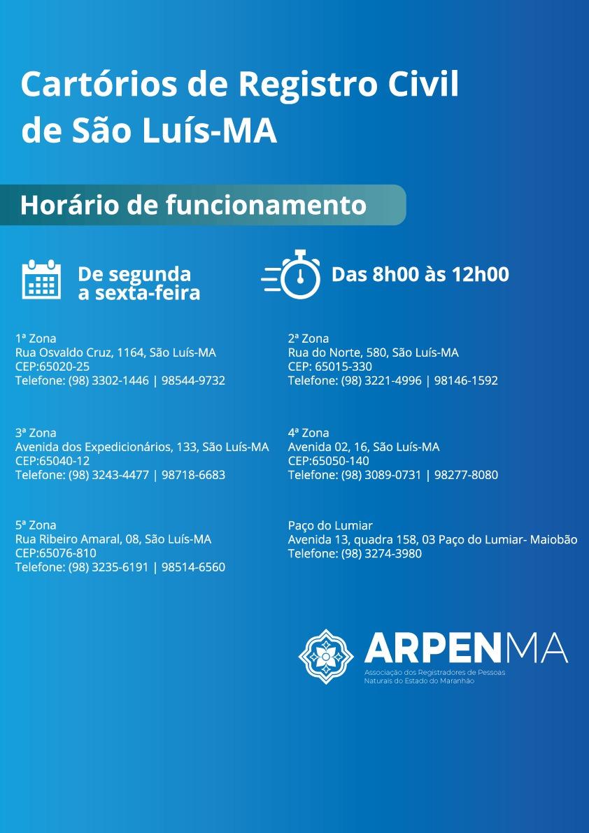 Cartórios de Registro Civil em São Luís