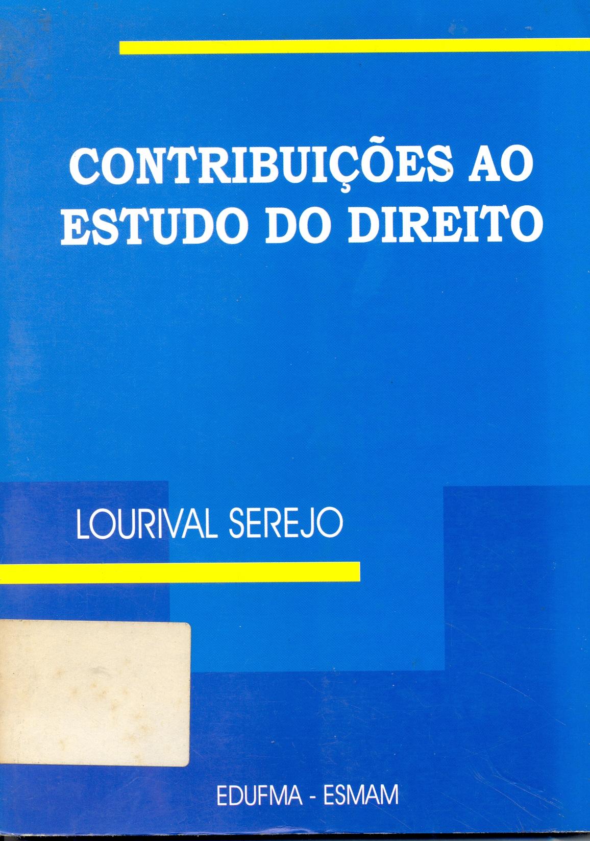 Contribuições ao Estudo do Direito